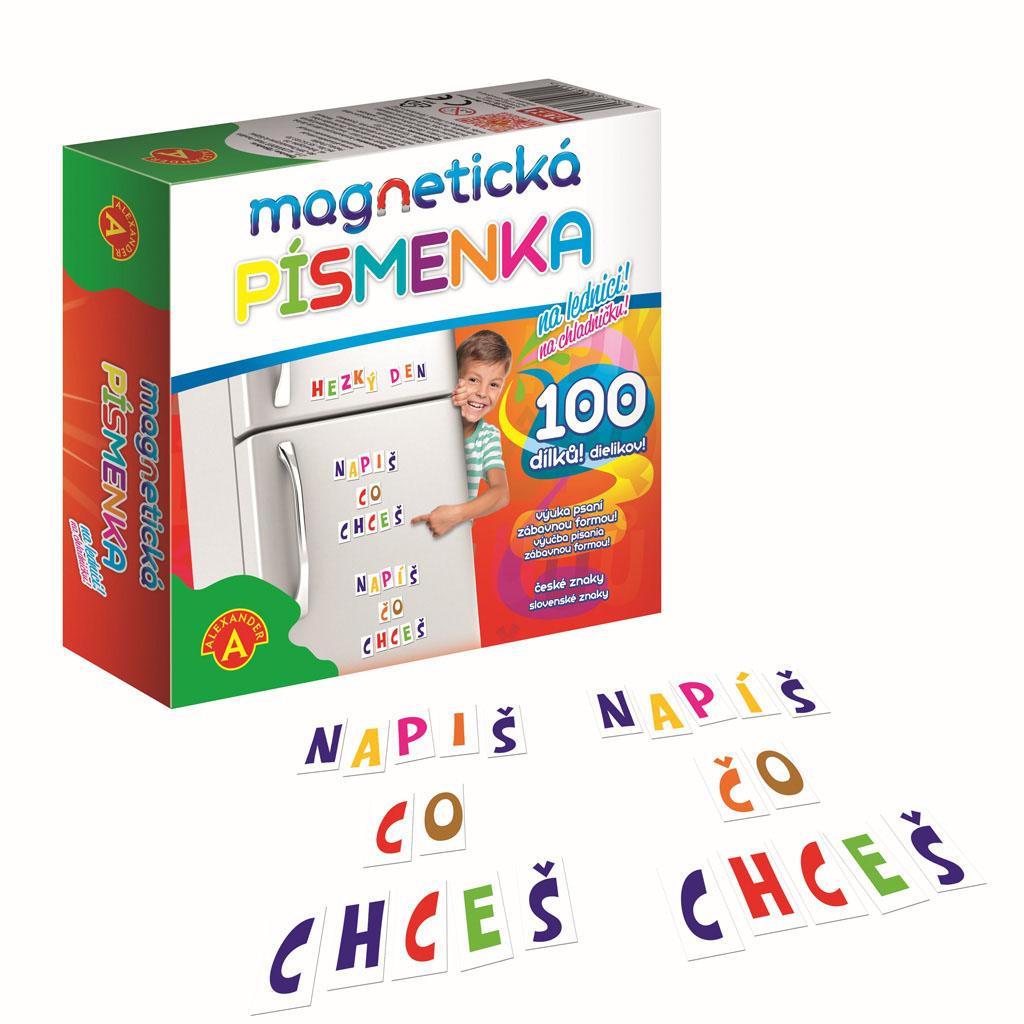 Magnetické písmená, 100 ks