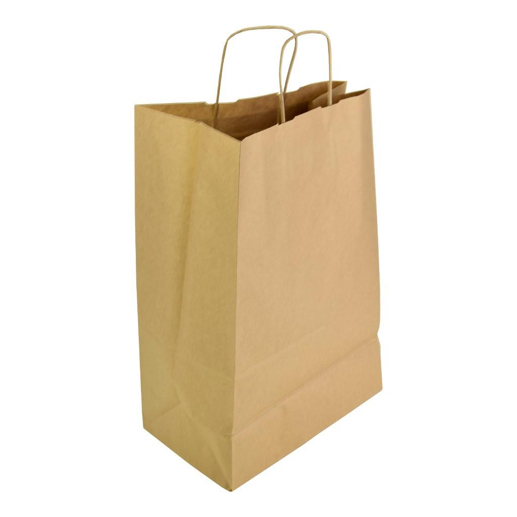 "74c92f5c61 Papierová darčeková taška s krúteným uchom ""natur"""
