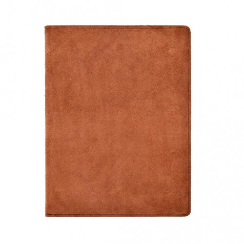 Portfólio A4 s blokom, brúsená koža, hnedé