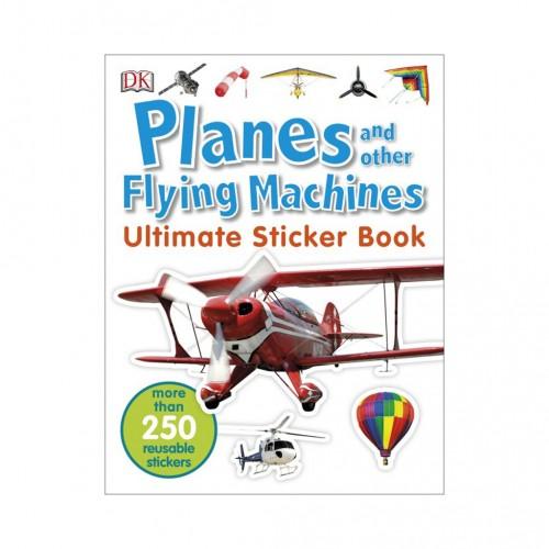 "Kniha v anglickom jazyku s nálepkami ""Planes and Other Flying Machines Ultimate Sticker Book"""
