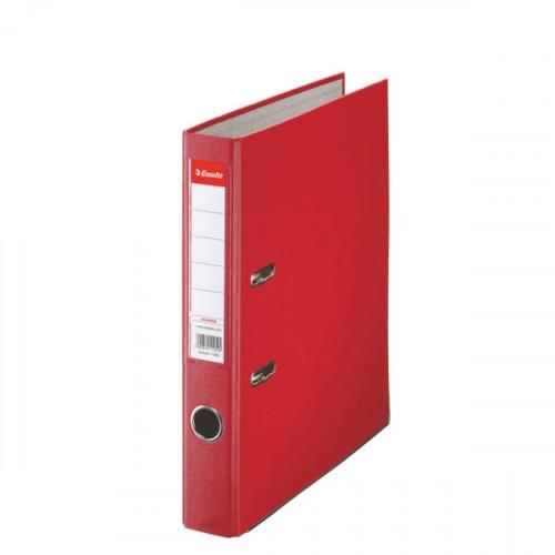 Zakladač pákový Esselte Economy, PP, A4, 5 cm, červený