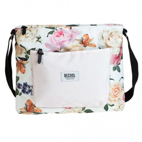 "Kabelka s dvomi popruhmi Busquets ""BECOOL Roses"", 33 x 30 x 8 cm"