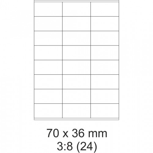 Etikety PRINT, 70 x 36 mm, 30 hárkov