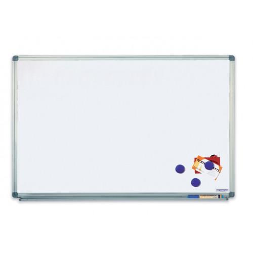 Biela magnetická tabuľa v hliníkovom ráme, 90 x 180 cm