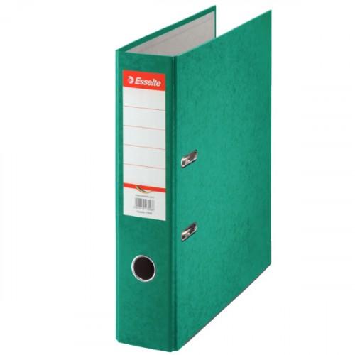 Zakladač pákový Esselte Rainbow, A4, kartónový, 7,5 cm, zelený