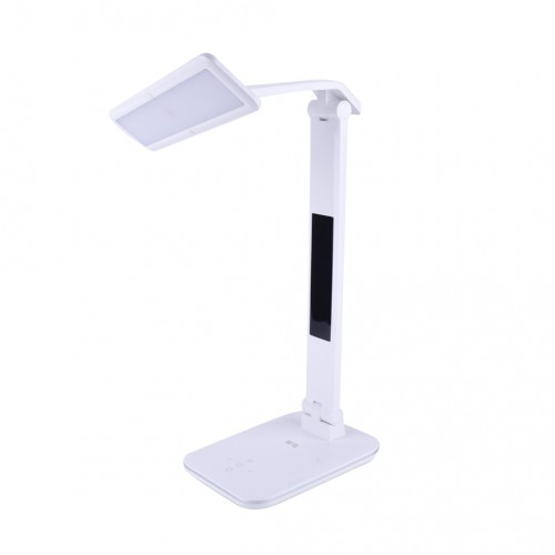 Stolná dotyková LED lampa M&G s diplejom, veľká, nabíjateľná, skladacia, biela