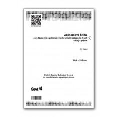 Záznamová kniha o vydávaných a prijímaných zbraniach,  držiteľ skupiny D zbrojnej licencie na vypožičiavanie a prenájom zbraní