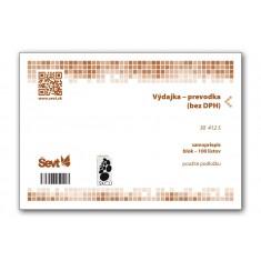 Výdajka - prevodka (bez DPH) A5, samopriepis