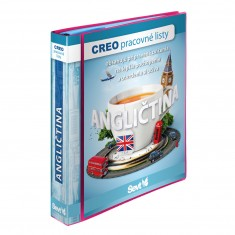 """CREO pracovné listy """"Angličtina"""" – anglická cvičebnica s nahovoreným textom + 2 ks popisovačov so stierkou"""