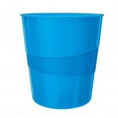 Odpadkový kôš Leitz WOW, 15 litrov, metalický modrý