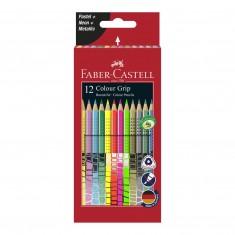 Farbičky Faber Castell Color Grip, súprava 12 ks