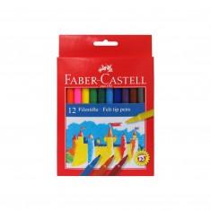 Fixky Faber Castell Fibre-Tip, súprava 12 ks