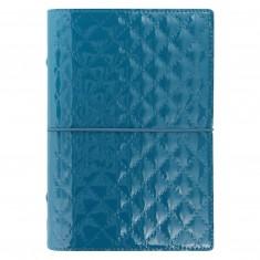 Organizér Filofax Domino Luxe A6, modro-zelený