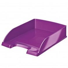 Stolová zásuvka Leitz WOW Plus, metalická fialová