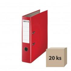 Zakladač pákový PP, A4, 7,5 cm, červený, 20 ks