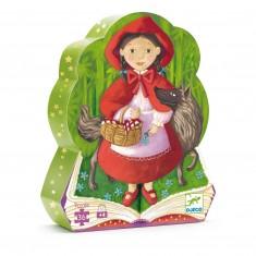 """Puzzle Silhouette Djeco """"Červená čiapočka"""", 36 ks"""