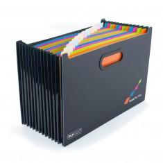 """Box na spisy Rapesco """"Supafile"""", A4+, 13-dielny, s registrom"""