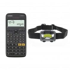 Kalkulačka Casio FX-350CE X, s matematickými funkciami + čelovka Sencor SLL 59
