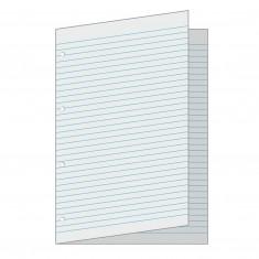 Papier linajkový – A3 dvojhárok, 4 x dierovaný, 50 ks