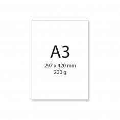 Papier na akvarel A3, 200 g/m², 200 ks