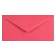 Farebné obálky DL, obyčajné, ružové, 5 ks
