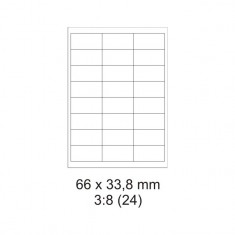 Etikety PRINT, 66 x 33,8 mm, biele, 30 hárkov
