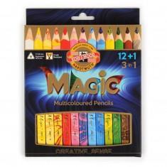 Farbičky KOH-I-NOOR Magic 3408 s viacfarebnou tuhou, súprava 12 + 1 ks