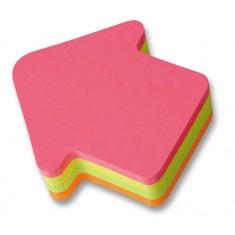 "Samolepiaci blok ""šípka"", 75 x 75 mm, 200 listov, mix farieb"