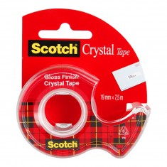 Lepiaca páska 3M Scotch® Crystal, 19 mm x 7,5 m, s dispenzorom