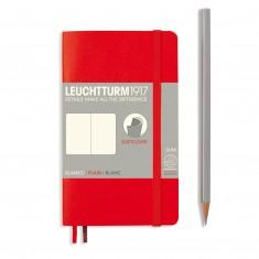 Poznámkový zápisník Leuchtturm1917, Softcover, Pocket, A6, 90 x 150, čistý, červený