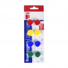 Magnety, 20 mm, 8 ks, mix farieb