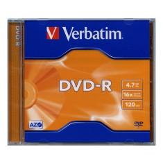 DVD-R Verbatim, 4.7 GB, 16x, klasický obal