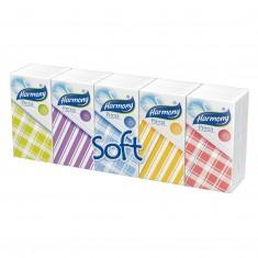 Hygienické vreckovky Harmony Prima, trojvrstvové, 100 % celulóza, 10 x 10 ks