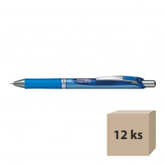 Gélový roller tekutý Energel BLN75-C, modrý, 12 ks