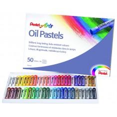 Pastely olejové Pentel Arts PHN4-50, sada 50 ks