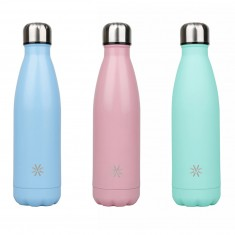 Izotermická fľaša Viquel Aqua, 500 ml, ušľachtilá oceľ, mix pastelových farieb