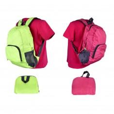 Outdoorový skladací batoh s predným i bočnými vreckami, mix farieb