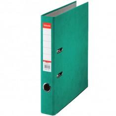 Zakladač pákový Esselte Rainbow, A4, kartónový, 5 cm, zelený