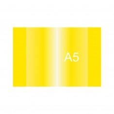 Obal na zošit PVC, A5, žltá