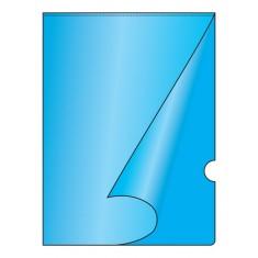 "Obal ""L"", PP, A4, modrý, 10 ks"