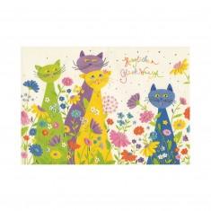 "Blahoželanie Turnowsky ""Herzlichen Glückwunsch – 4 mačky"""