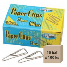 Listové spony 25 mm, 10 bal x 100 ks
