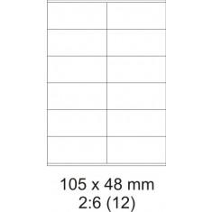 Etikety PRINT, 105 x 48 mm, biele, 100 hárkov