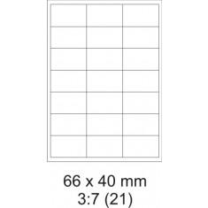 Etikety PRINT, 66 x 40 mm, biele, 100 hárkov