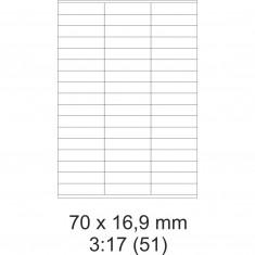 Etikety PRINT, 70  x  16,9 mm, biele, 100 hárkov