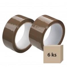 Lepiaca páska 38 mm x 66 m, hnedá, 6 ks