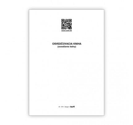 Osvedčovacia kniha - overenie listiny, 50 listov