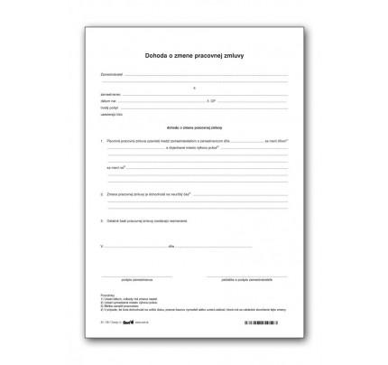 Dohoda o zmene pracovnej zmluvy