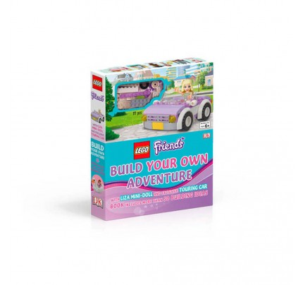 "Kniha v anglickom jazyku s hračkou ""LEGO® Friends – Build Your Own Adventure"""
