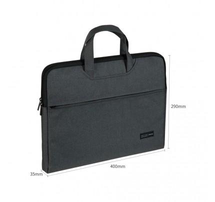 Textilná taška na dokumenty A4 so zipsom Deli